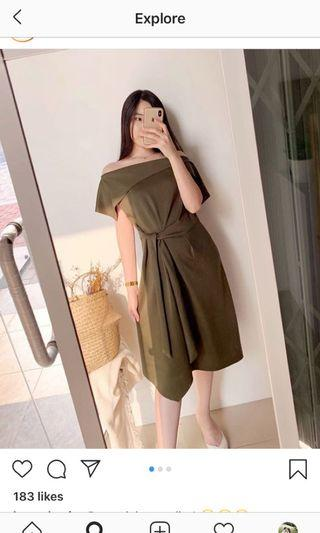 Eclair Collection One Shoulder Dress (Scuba)