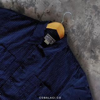 Short shirt stripe navy
