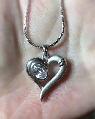 寶石愛心項鍊