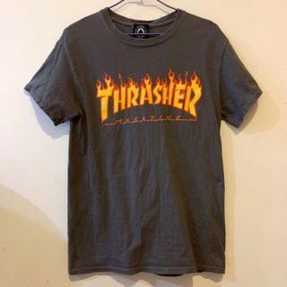 Thrasher 火焰t 墨綠S