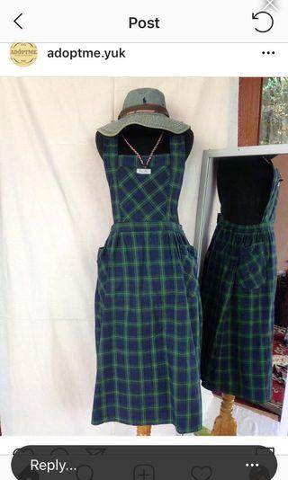 Vintage green overall