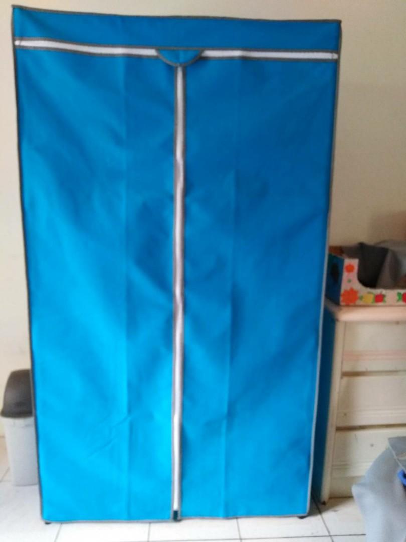 四層組合鐵架收納櫃+防塵套