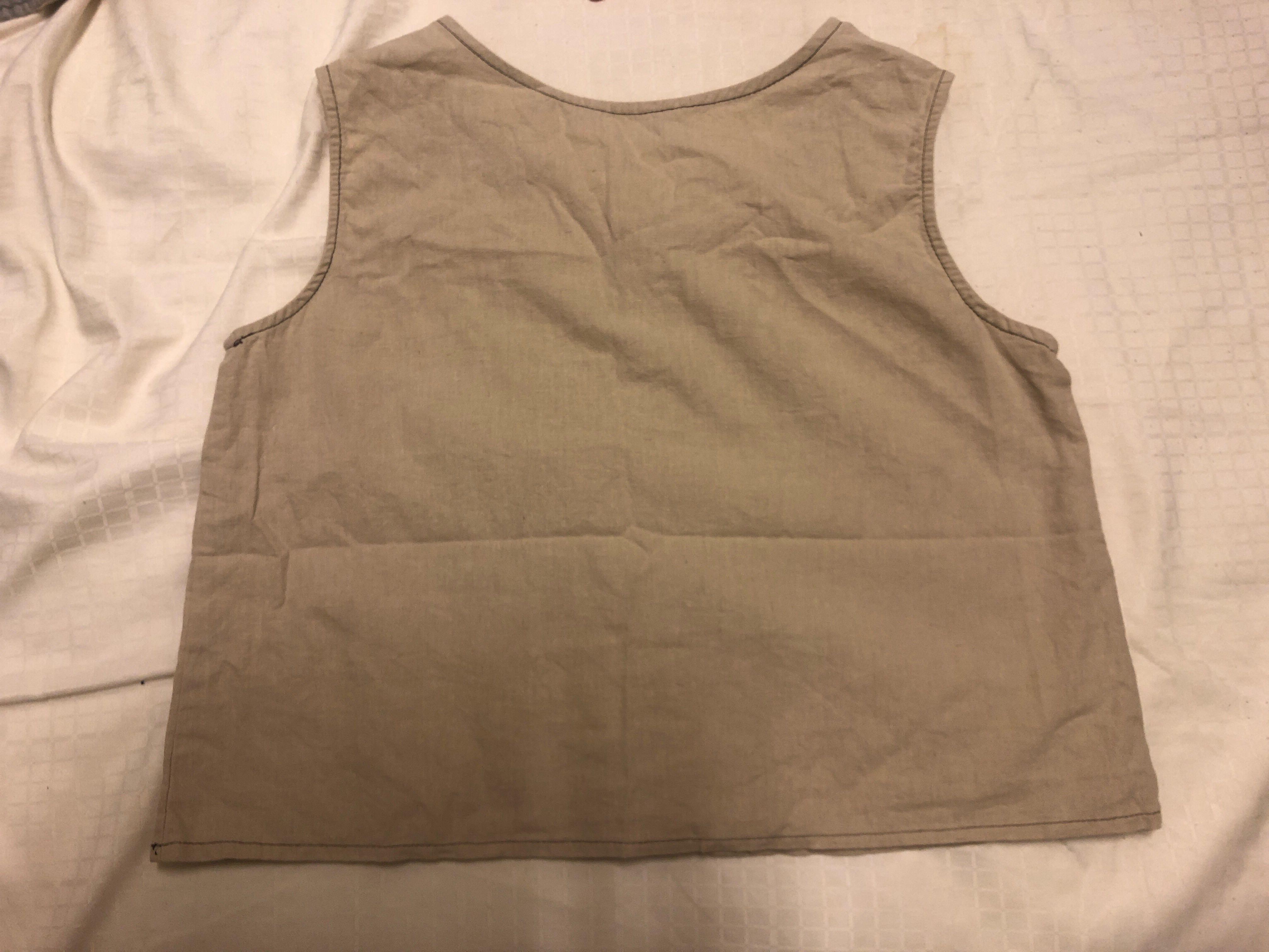 韓製 棉麻短背心