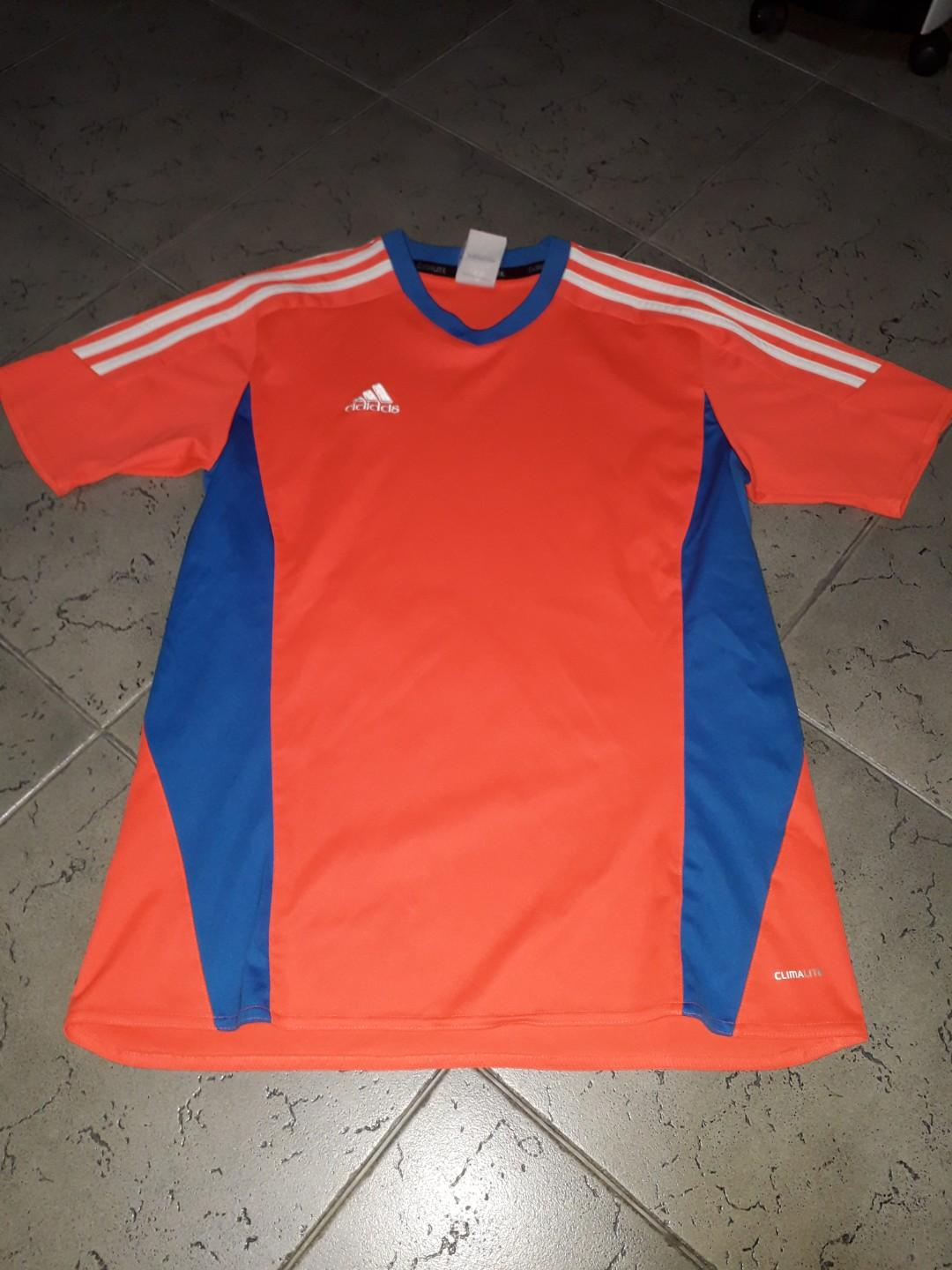 Adidas climalite neon orange dry fit top