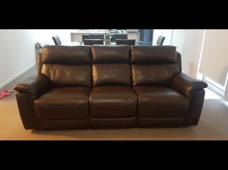 Adriatic - Electric Premium Leather 3 seater recliner