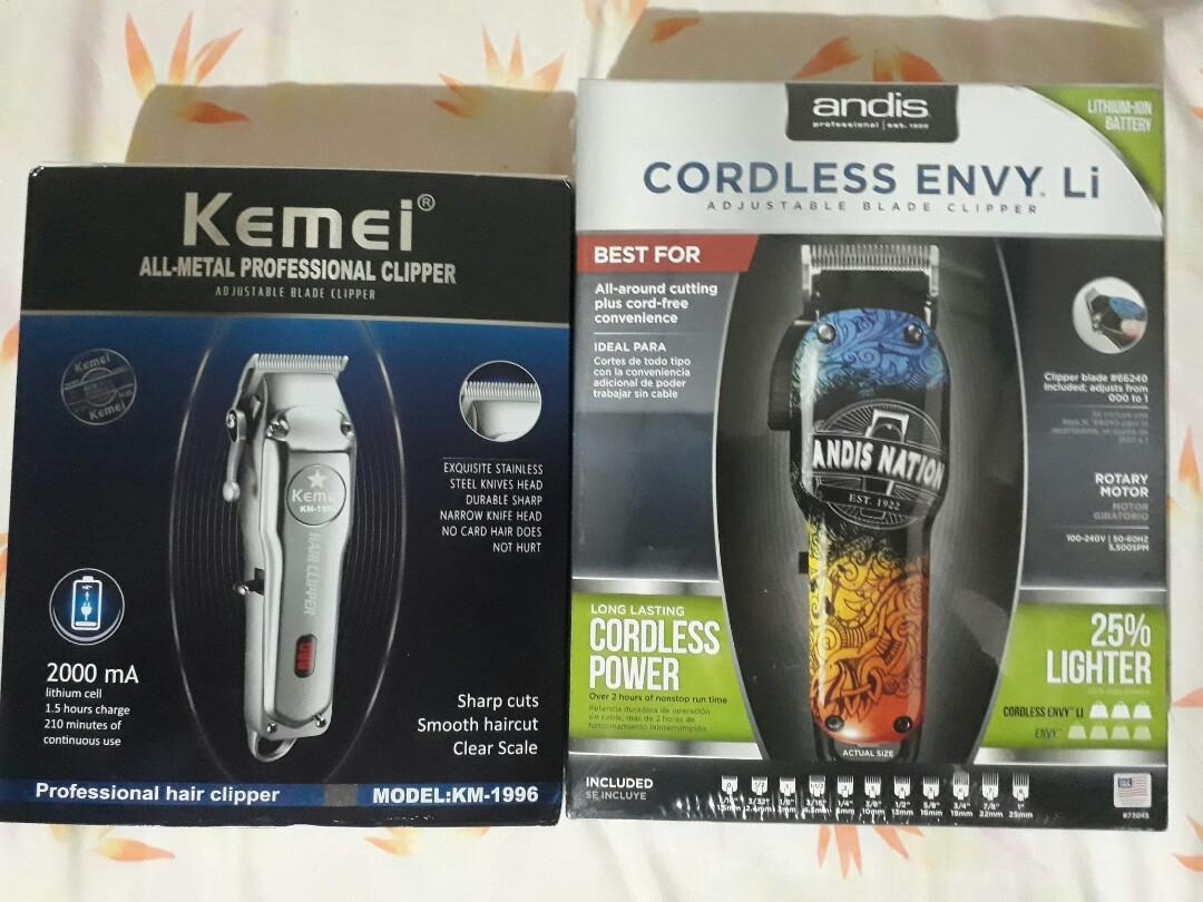 ANDIS and KEMEI HAIR CLIPPER buy 1 take 1