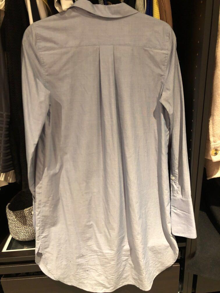Aritzia babaton Carleton dress shirt dress long sleeve blue Small