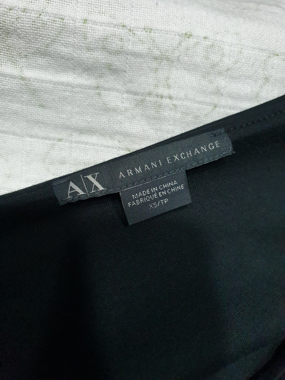 Armani exchange 品牌 正品 秋 簡約顯瘦 側邊拉鍊上衣M