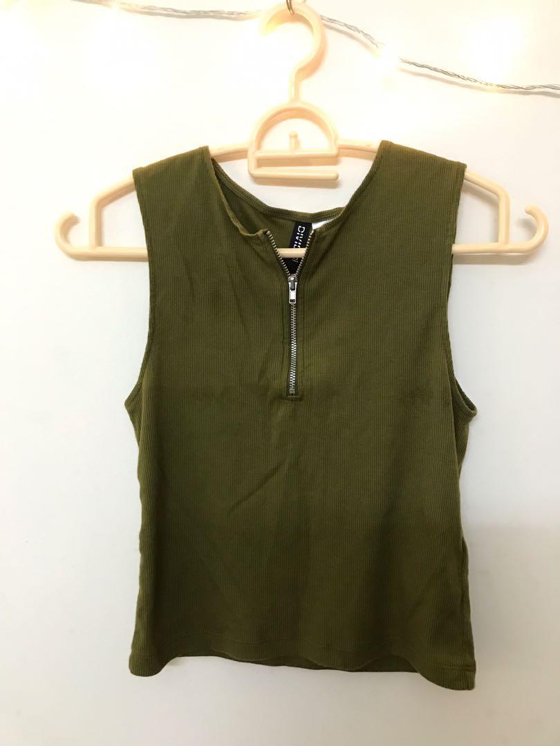 Basic Green Tank Top