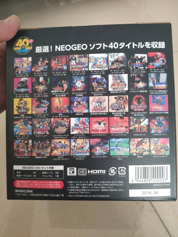 Brand New NeoGeo Mini (SNK 40th Anniversary)