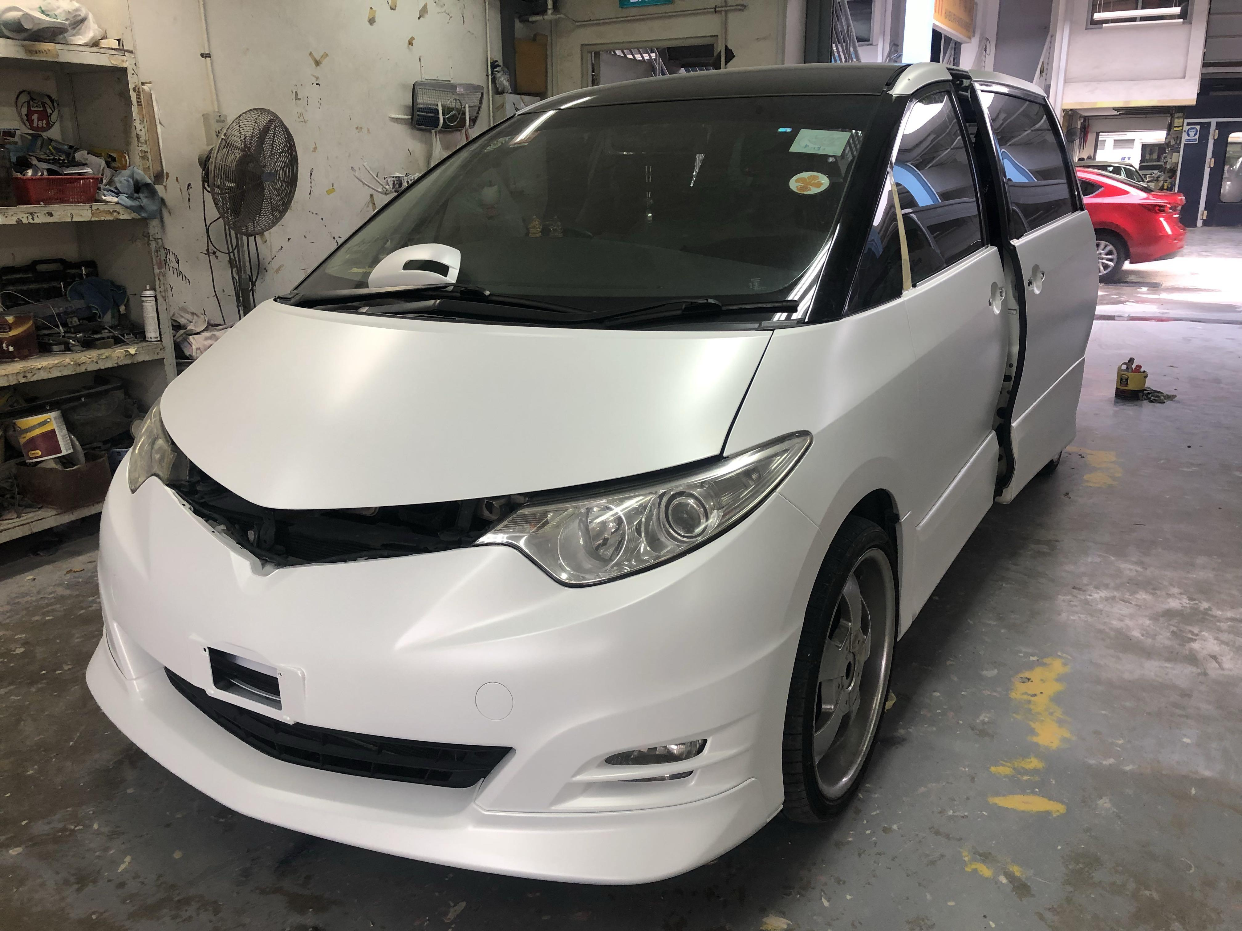Car Spray Painting Matte White Car Accessories Car Workshops Services On Carousell