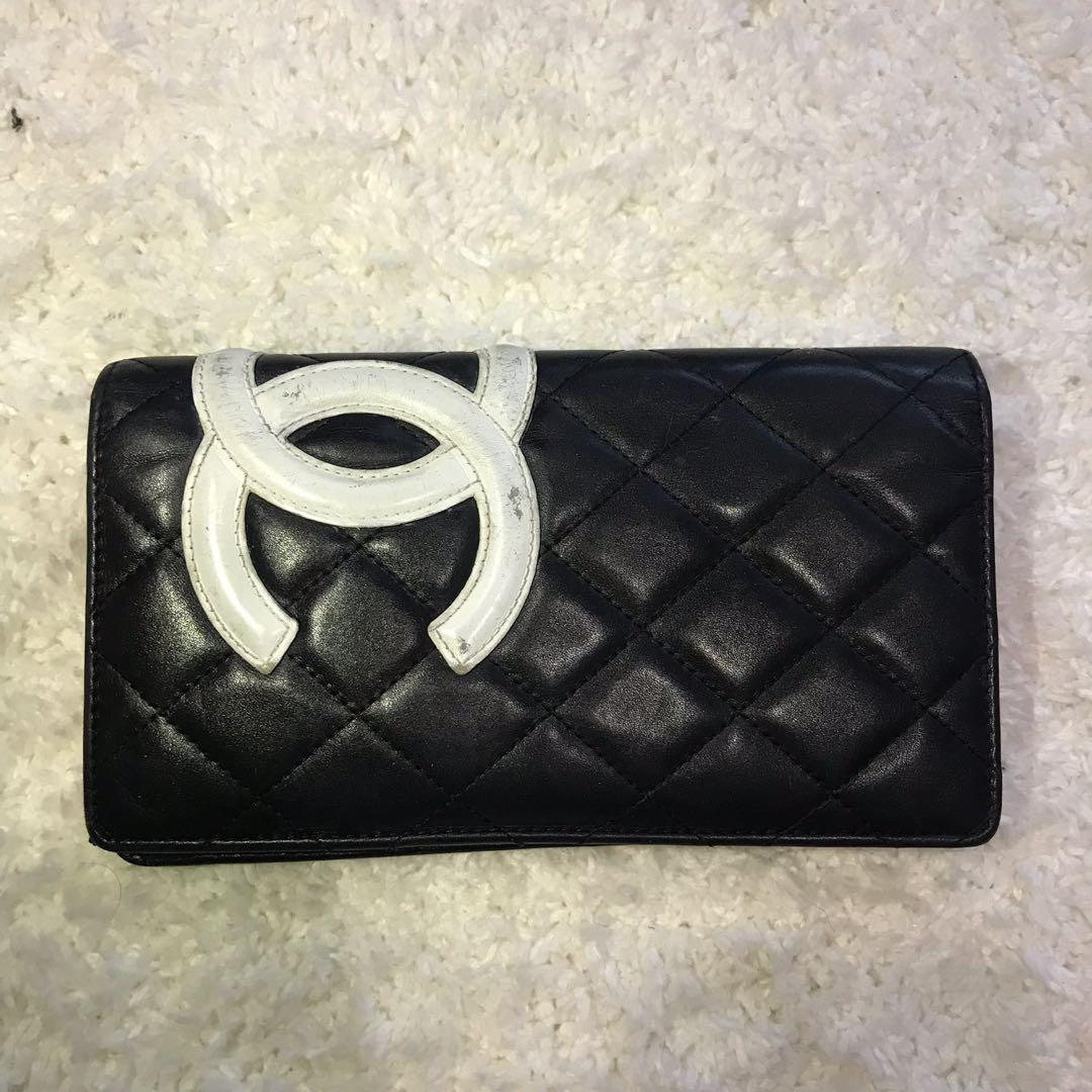Chanel Authentic Cambon CC Bifold Long Wallet