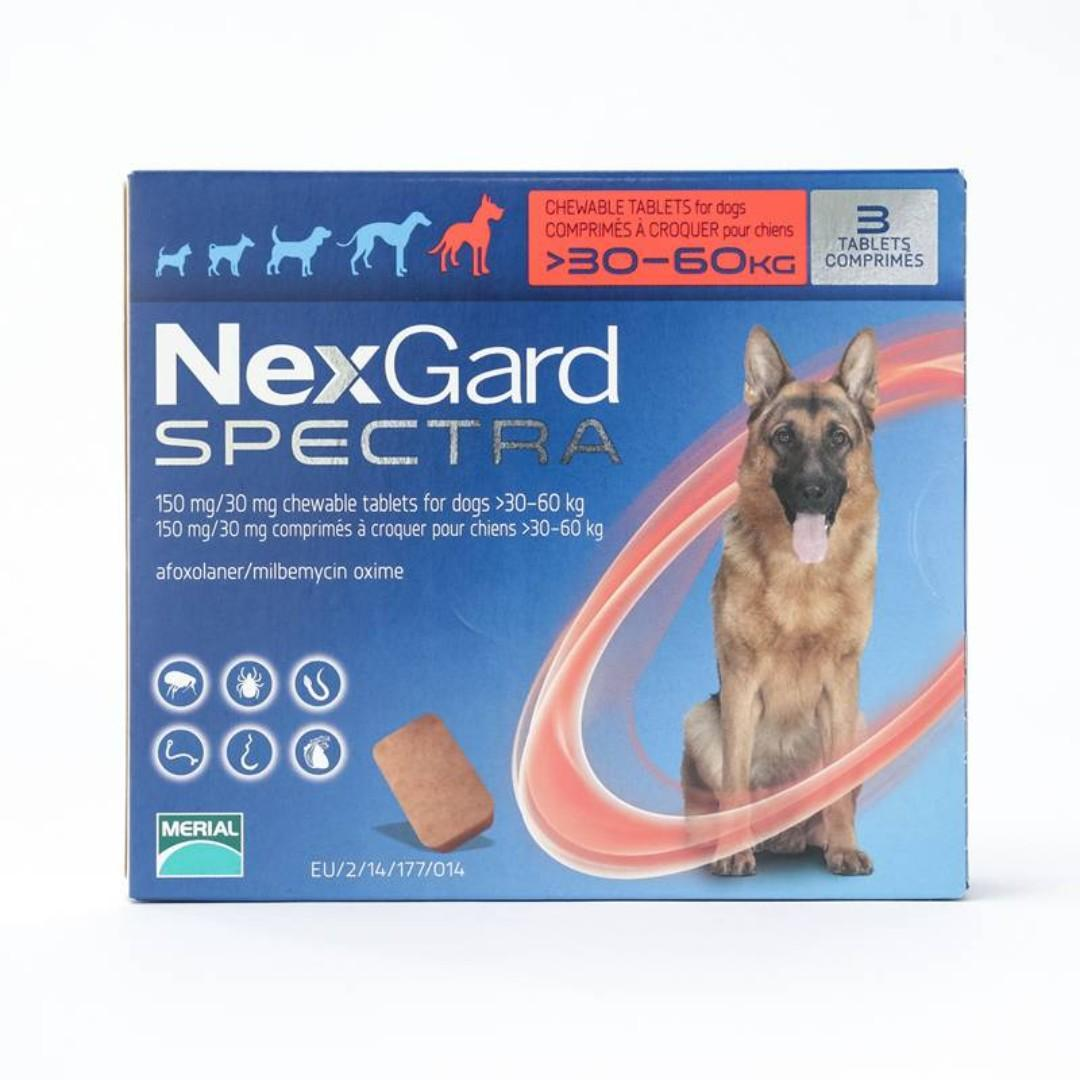 Clearance !! NexGard Spectra Chews For Dogs X-Large-(D105-7012-CL)