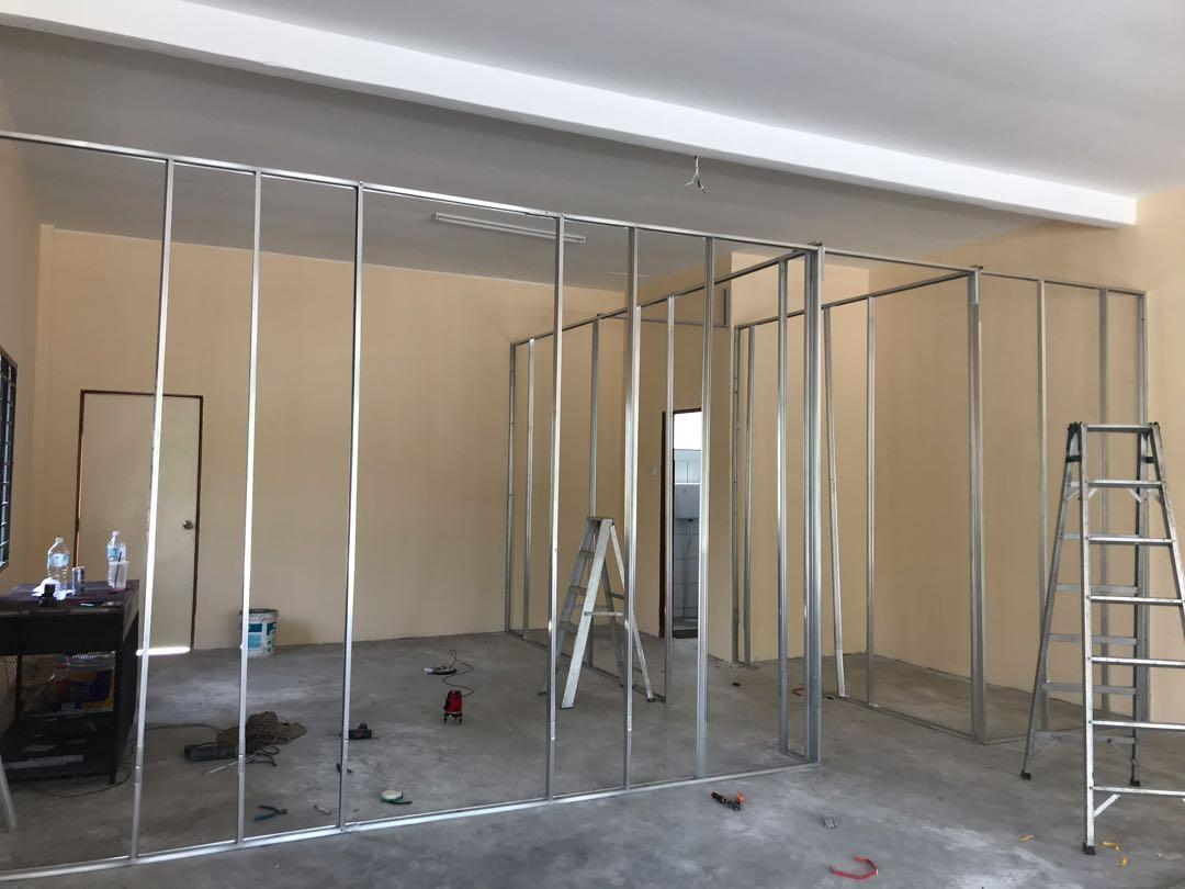Dinding Partition Gypsum board drywall Murah Murah Berkualiti