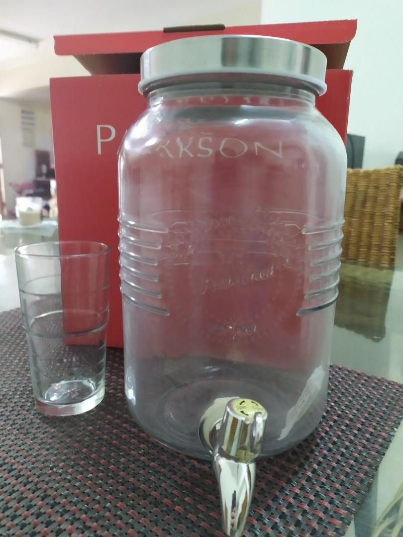 Glass Water Dispenser & Glasses