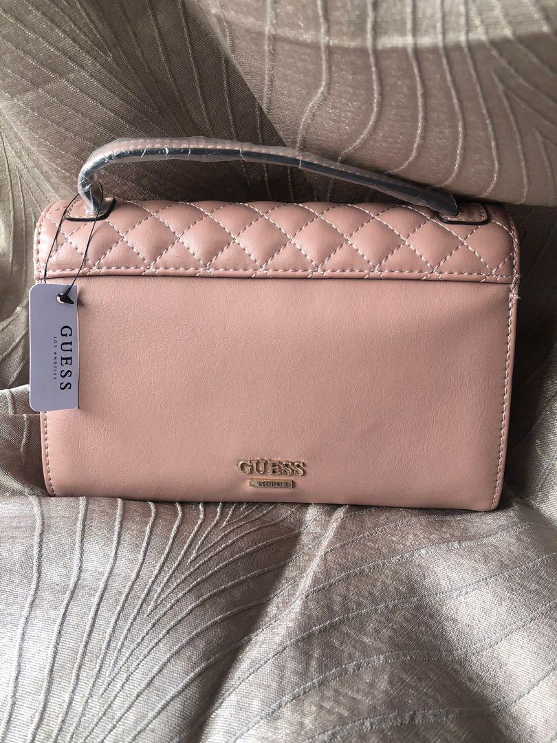 GUESS PINK CLUTCH BAG PURSE