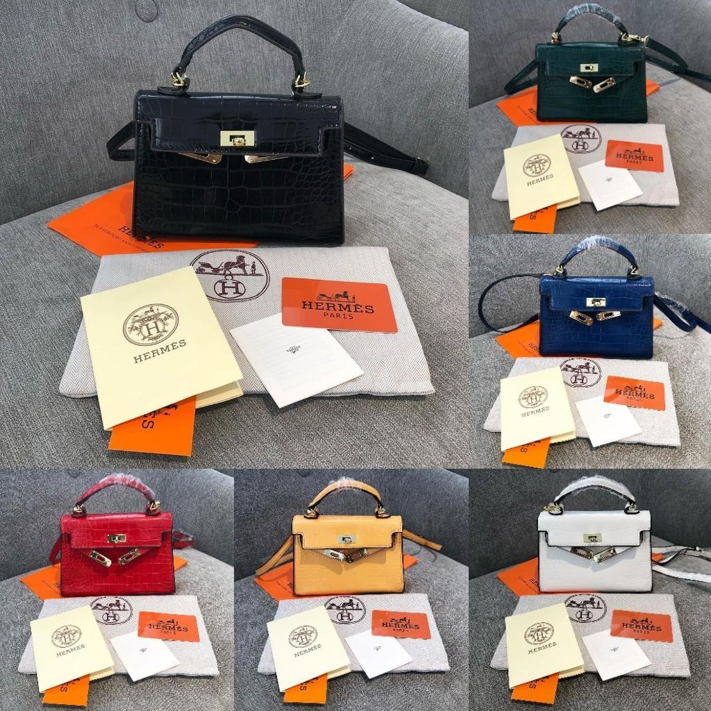 Handbag HK Croco Mini Semi Premium Handbag Branded Free Paperbag
