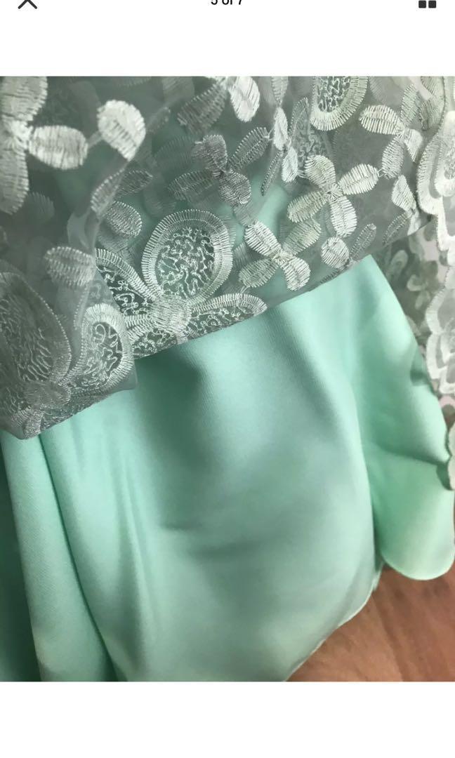 JADORE Womens Ladies Formal Lace Dress Green Size 6/8