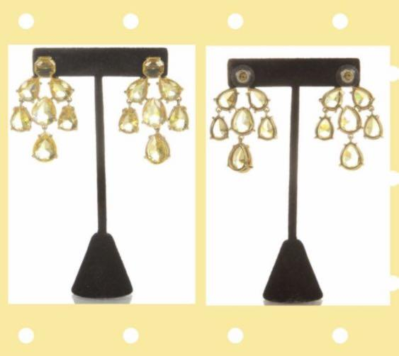 Kate Spade New York Yellow Chandelier Earrings NEW + Gift Box