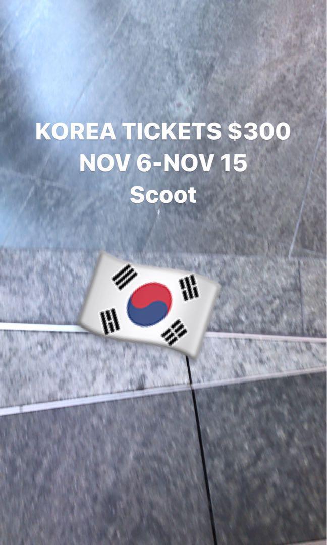 Korea scoot flight ticket