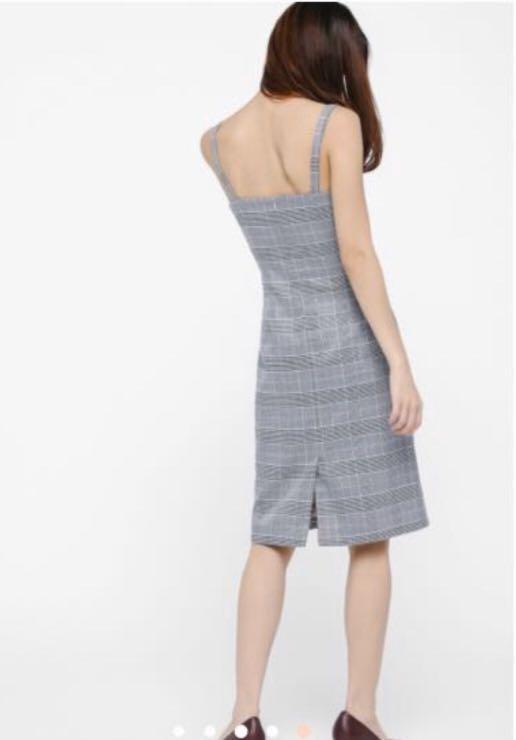 LB Ivette Plaid Pencil dress