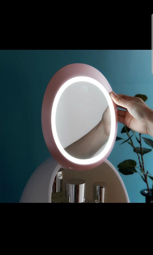 Led light mirror skin care box