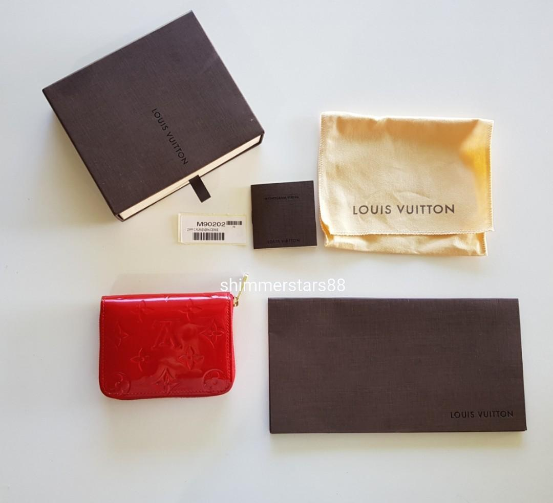 LOUIS VUITTON ZIPPY COIN CARD PURSE AUTHENTIC, includes receipt
