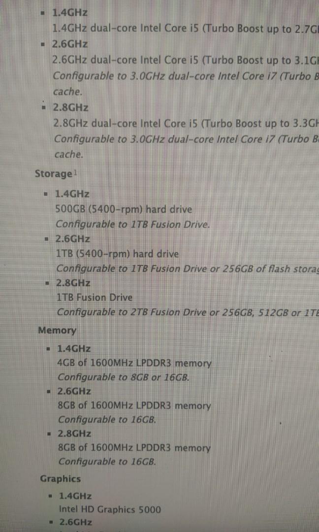 Mac mini Late 2014 8GB RAM  1TB HD