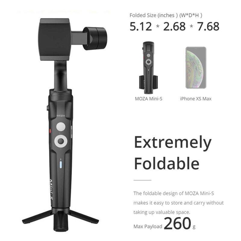 Moza Mini S Foldable 3-Axis Gimbal Vlog Stabilizer