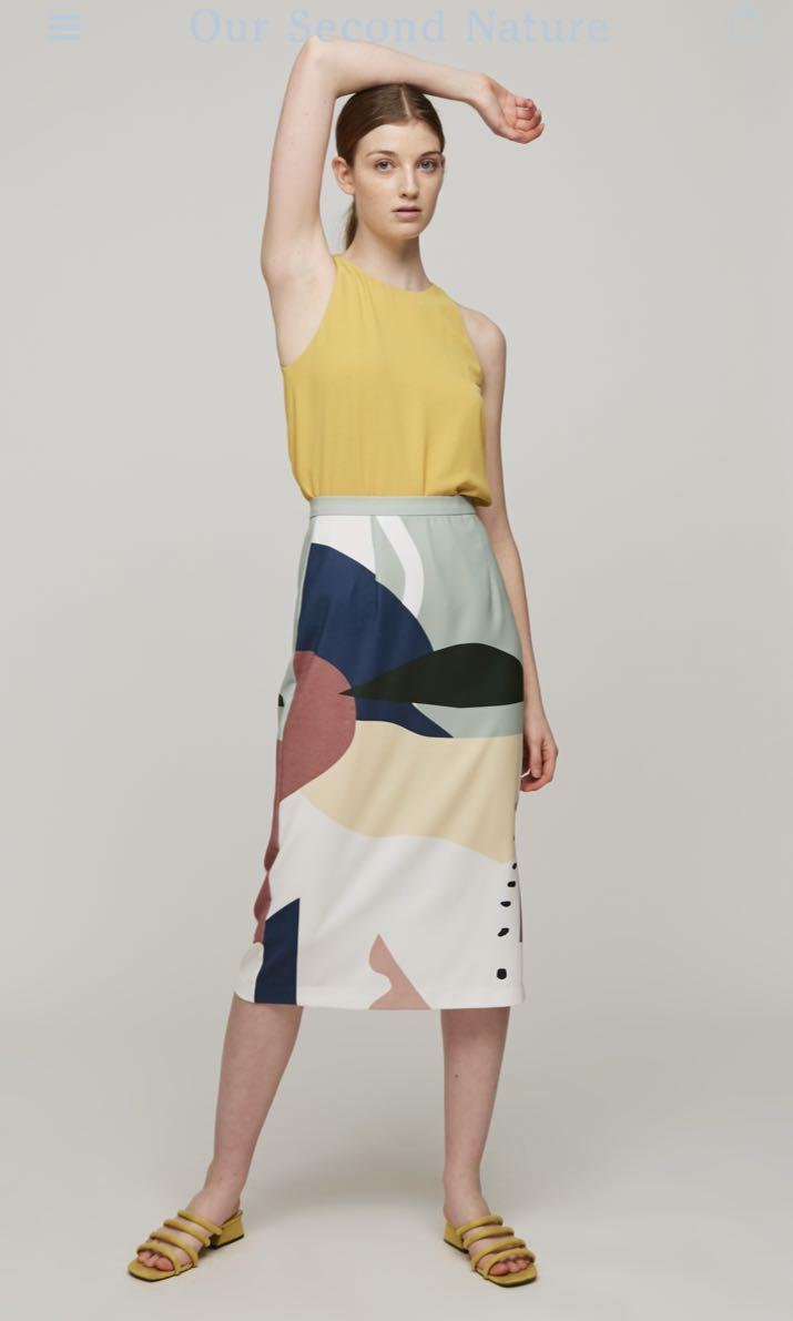 Our Second Nature Roadmap Midi Skirt