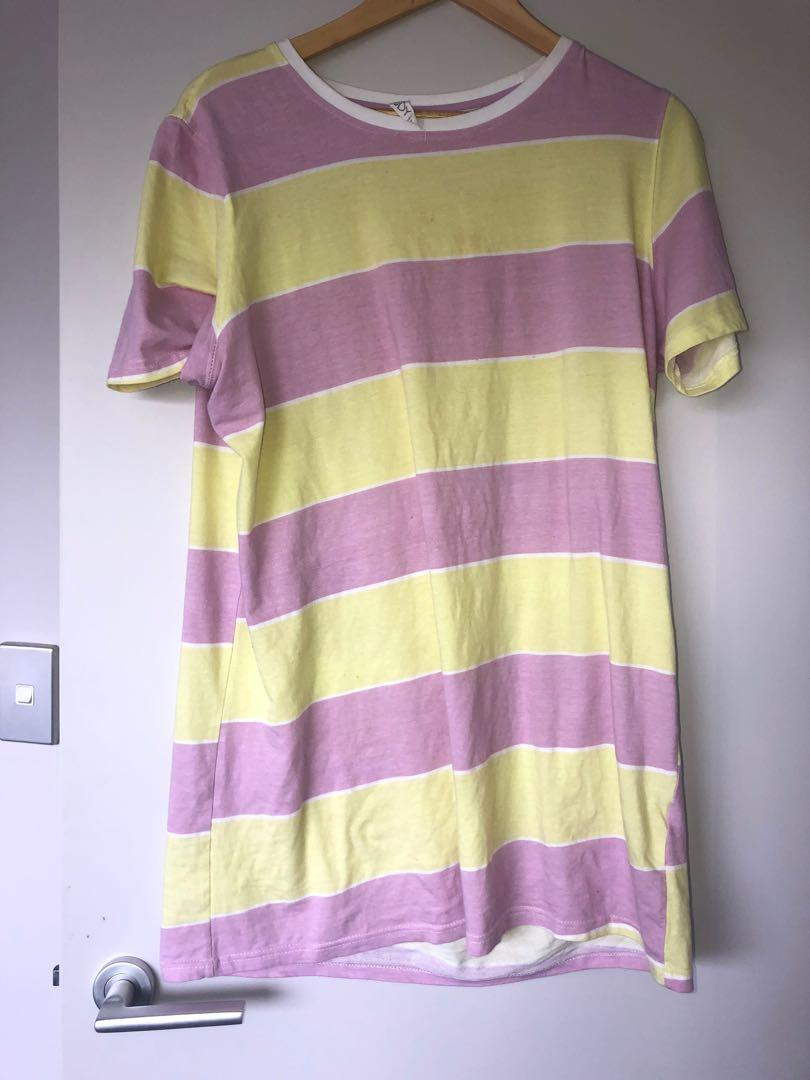 pink and yellow cotton on nighty