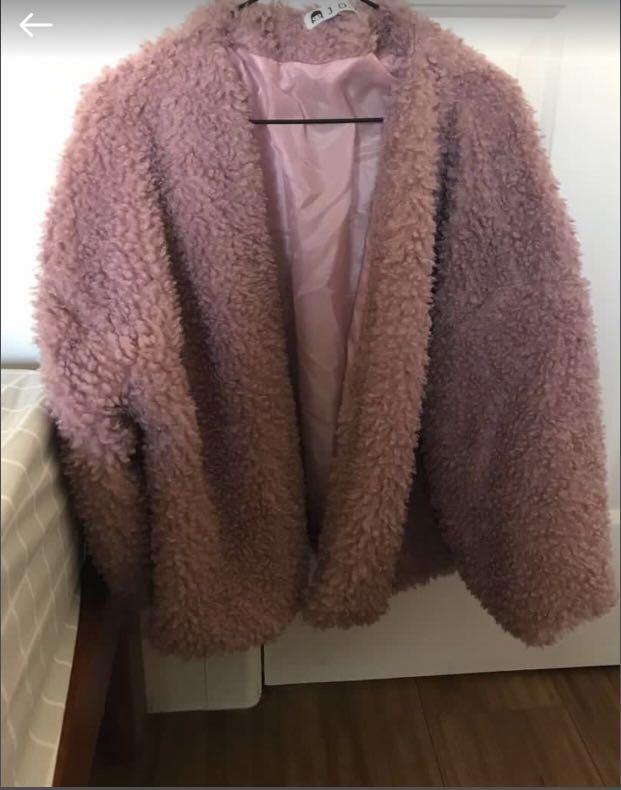 Pink fluffy jacket