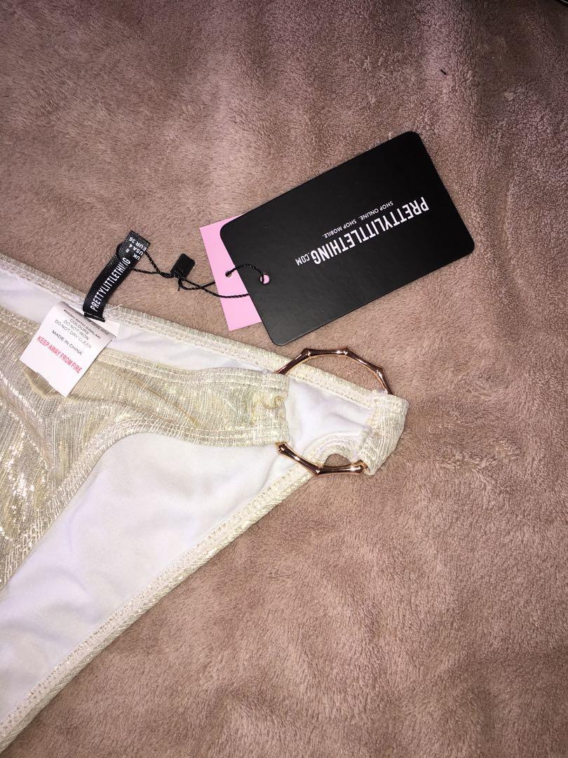 Plt highwaisted bikini bottoms with rose gold rings