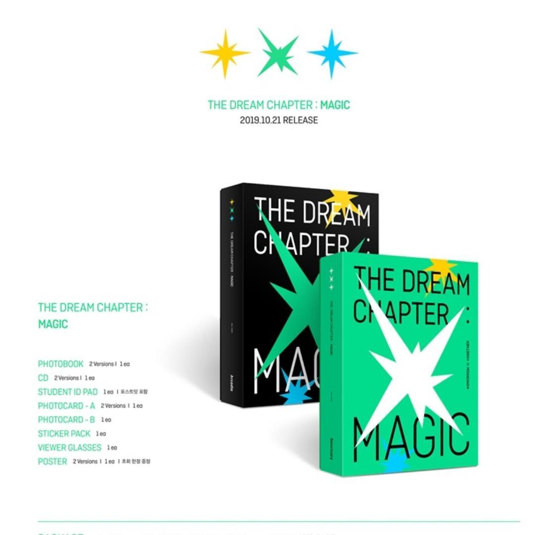 [PREORDER] TXT (투모로우바이투게더) - 꿈의 장 : MAGIC / THE DREAM CHAPTER: MAGIC