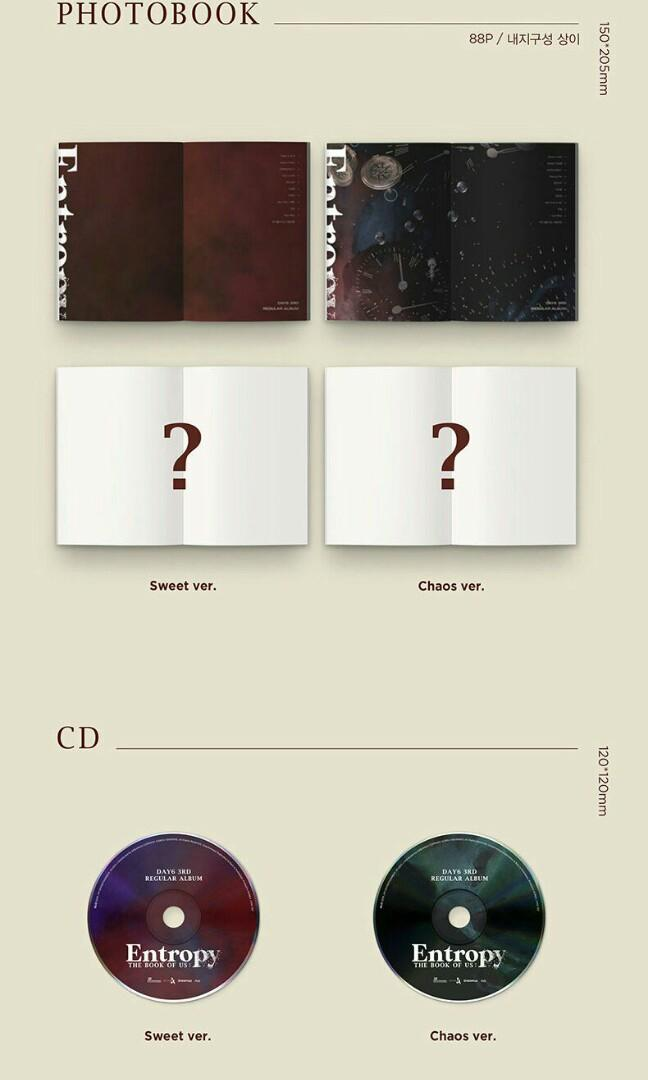 [PRE-ORDER:SEALED] DAY6 - THE BOOK OF US : ENTROPY