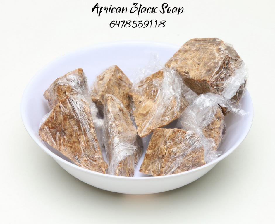 Raw African Black Soap (benefits: fights acne/irritated skin/exfoliates/)reduce hyper pigmatation)
