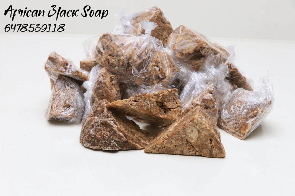 Raw African Black Soap (great for irritated skin, good for exfoliation)