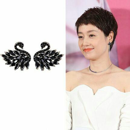 Readystock antingtusuk antingswarovski aksesoris earrings blouse wardah baju kemeja