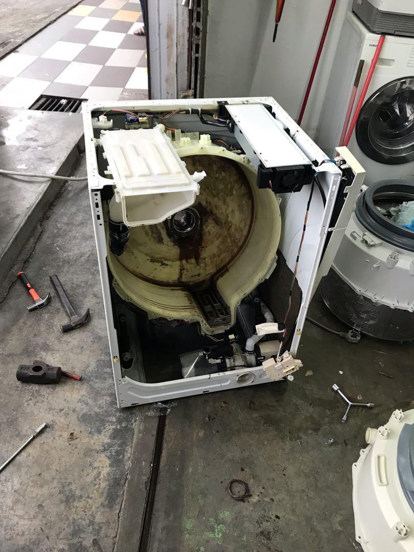 Repair mesin basuh peti sejuk