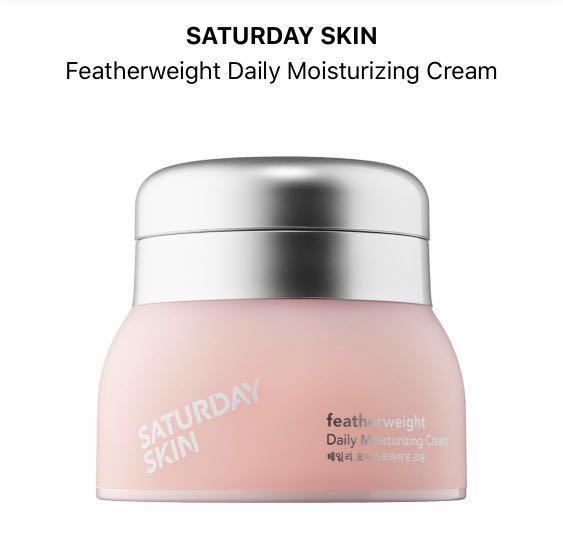 Saturday skin feather weight daily Moisturizing cream