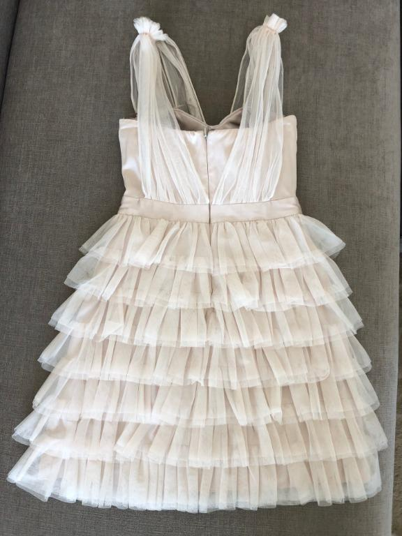 Seduce Be Seduced Luxe Tiered Tulle Cocktail Dress