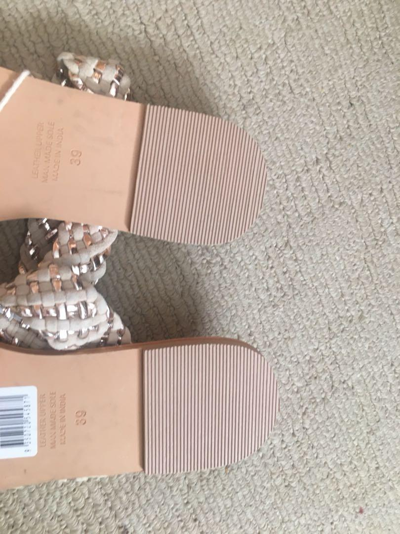 Seed heritage sandals brand new real leather Eu 39 au 8