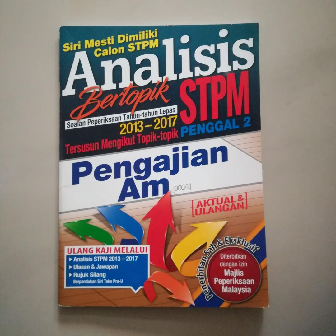 STPM Pengajian Am Topical Past Year Question Term 2