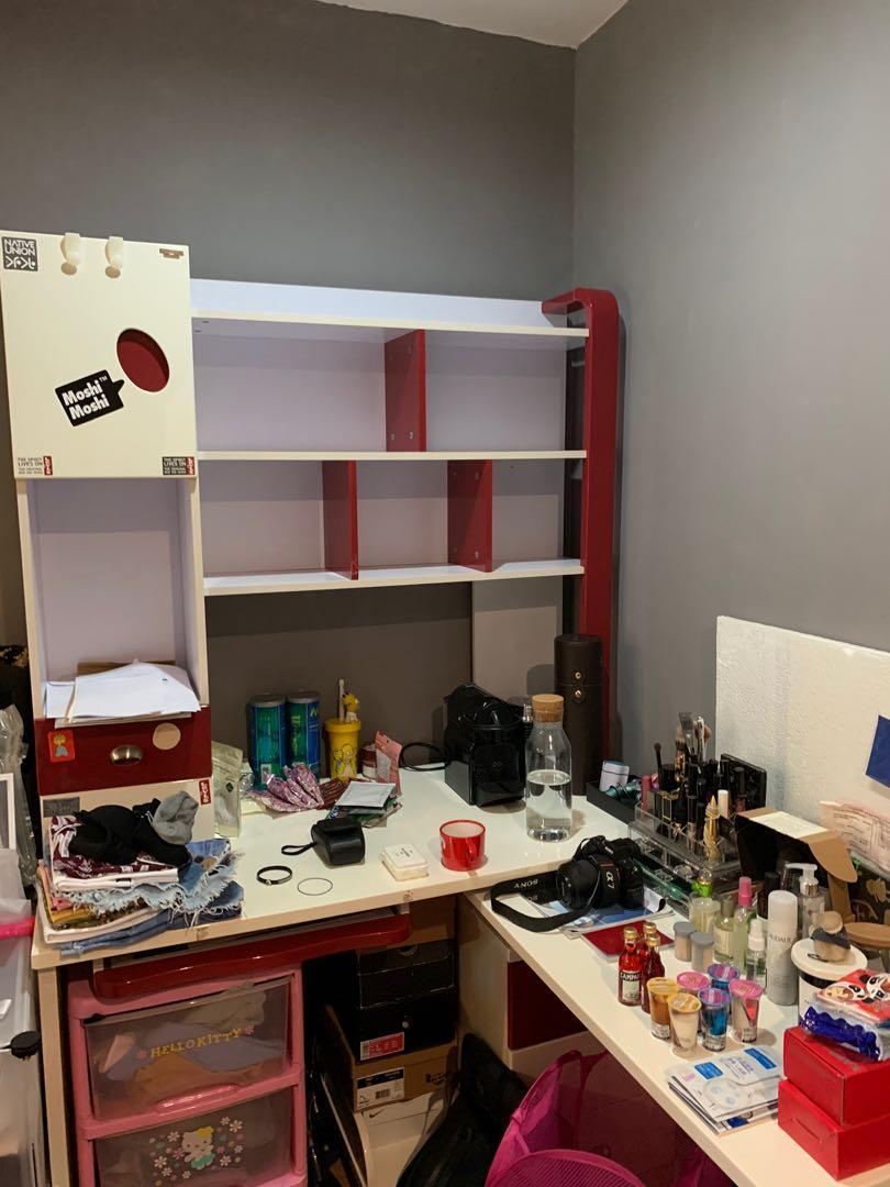 Study desk with storage