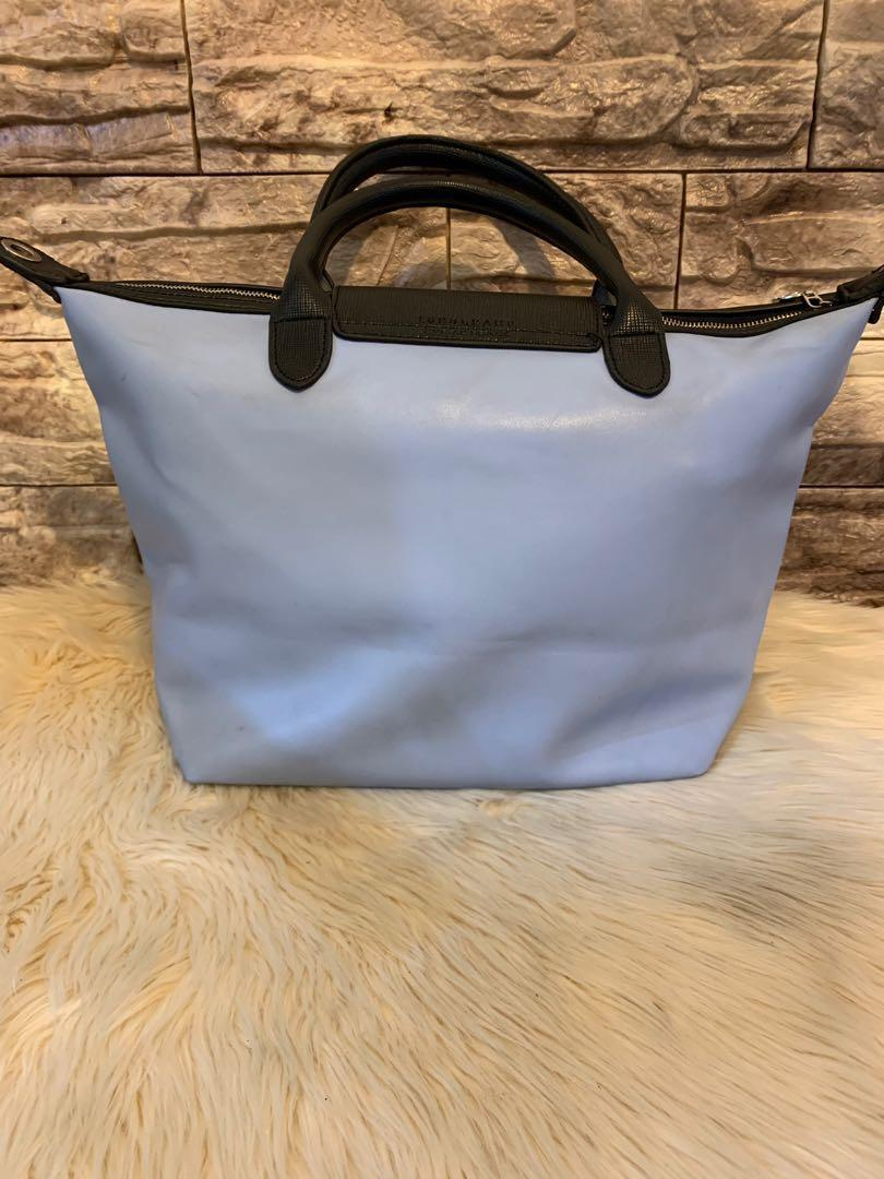 Tas Longchamp authentic full leather mulus luar dalam size 38 cm