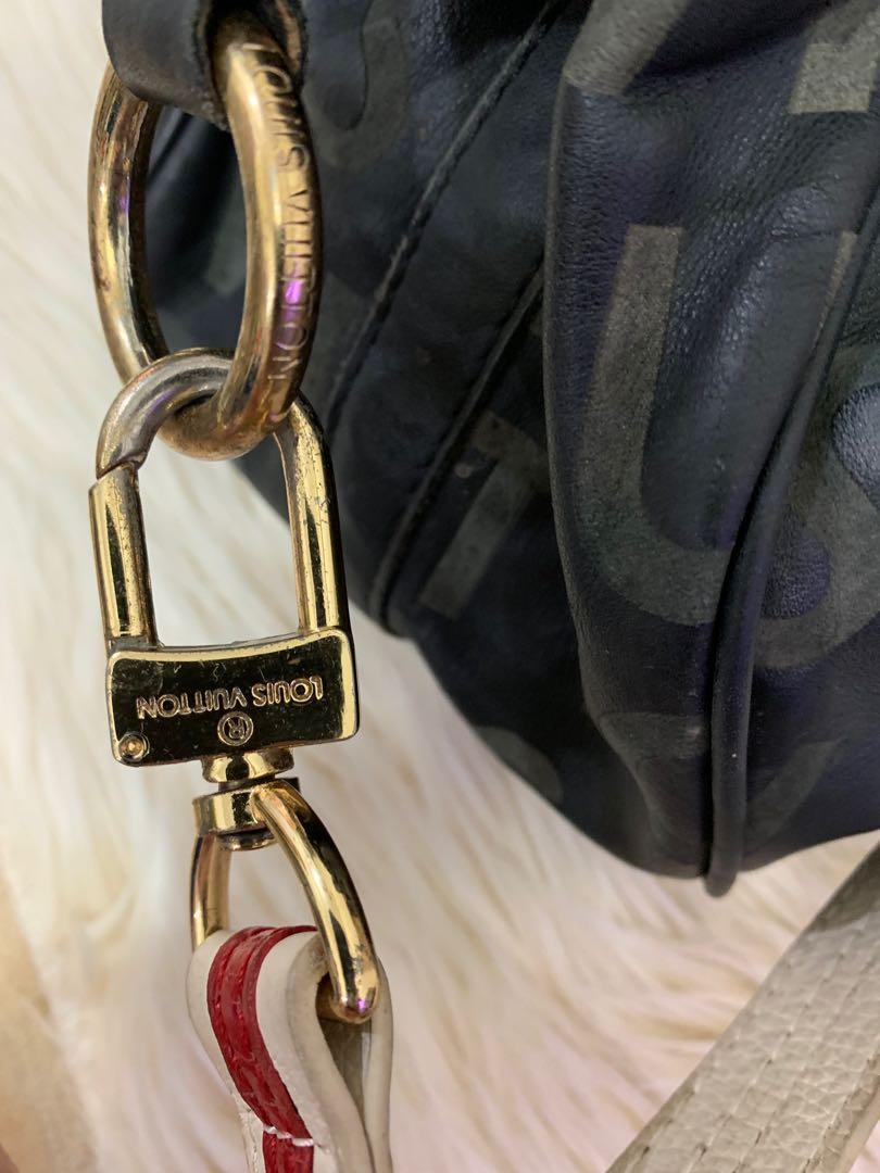 Tas slempang jinjing LV authentic vintage full leather 38 x 26 x 14 cm, antik sekali keren, tali panjang , all hardware full LV embossed, murah bag only
