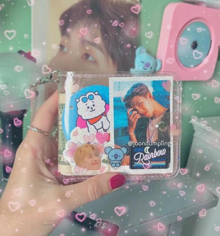 Transparent glitter jelly wallet