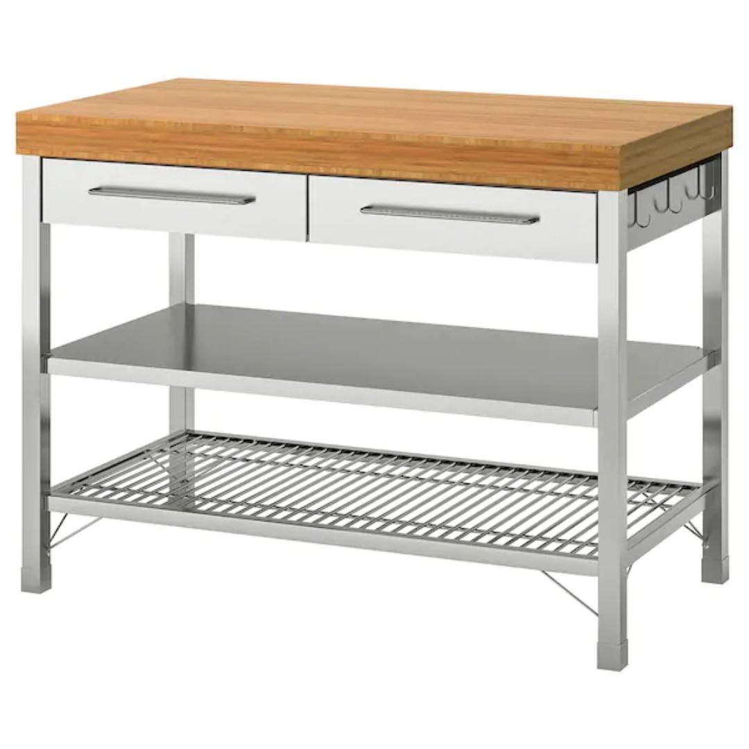 Work Bench Ikea Kitchen Table Rimforsa Furniture Tables Chairs On Carousell