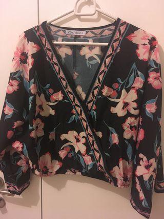 Kimono top flower