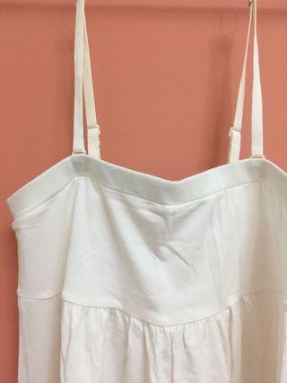 [全新] Uniqlo 白色 平口 細肩 內搭 蕾絲 細肩帶 可拆 可調節